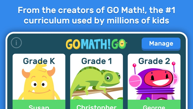 GO Math! GO – Fun learning for grades K, 1st & 2nd screenshot-0