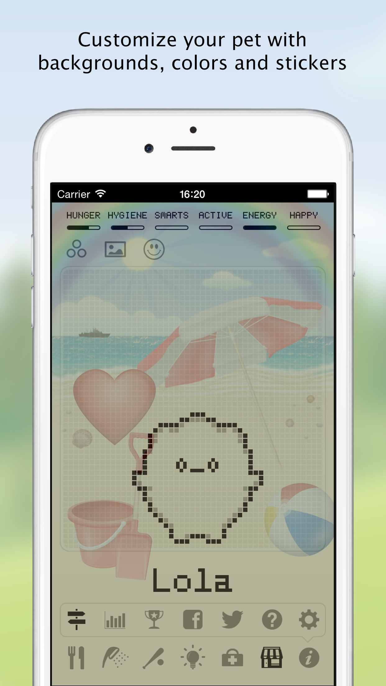Screenshot do app Hatchi - A retro virtual pet