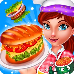 Tasty Burger Dash: Free Cooking Mama