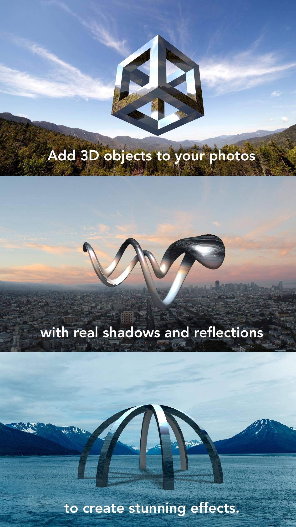 Screenshot do app Matter - Create and design 3D effects with photos