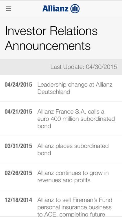 Allianz Investor Relations HD screenshot-4