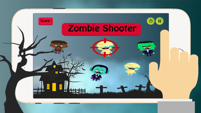 Zombies Halloween: Shooter Monsters Games For Kids screenshot one