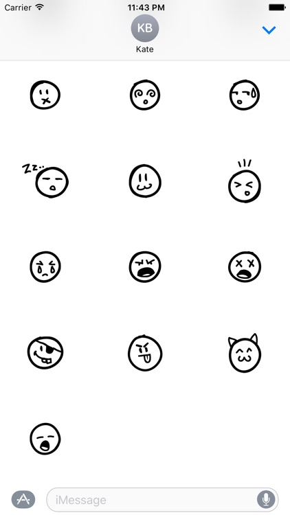 Doodle Emoji Stickers screenshot-3