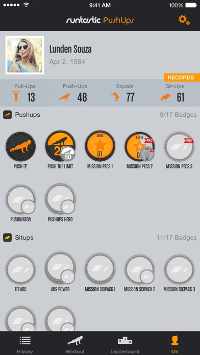 Runtastic Push-Ups PRO Trainer Screenshots