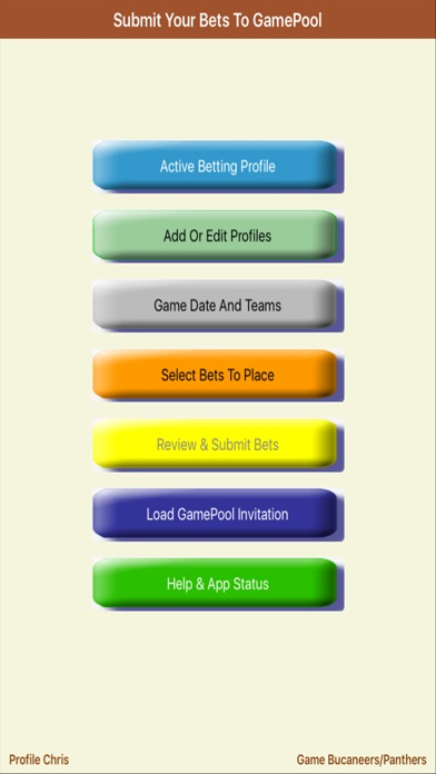 GameBet – Open GamePool invitations & submit bets