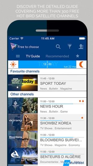Sat tv: Eutelsat TV guide on the App Store