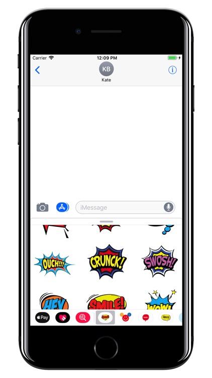 Comics Bubbles - WOW pack screenshot-3