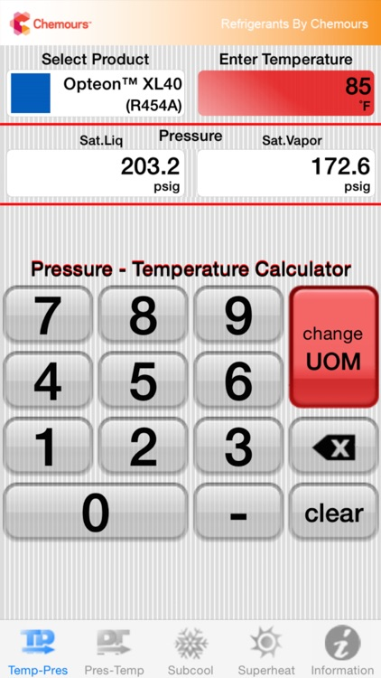 Chemours PT Calc screenshot-0