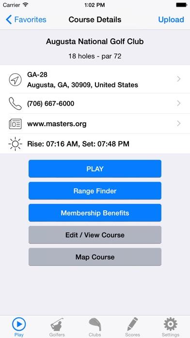 Golf GPS Rangefinder Scorecard app image
