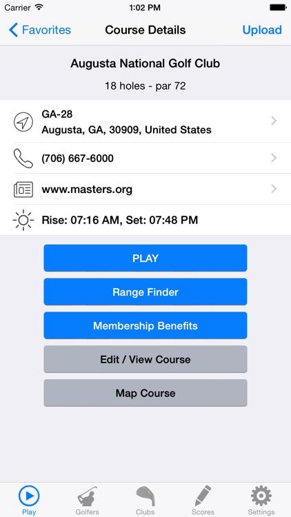 Golf GPS Rangefinder Scorecard screenshot-4