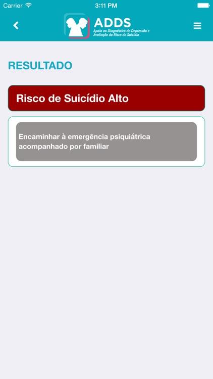 ADDS - Apoio ao Diagnóstico de Depressão e Avaliação do Risco de Suicídio - TelessaúdeRS screenshot-3