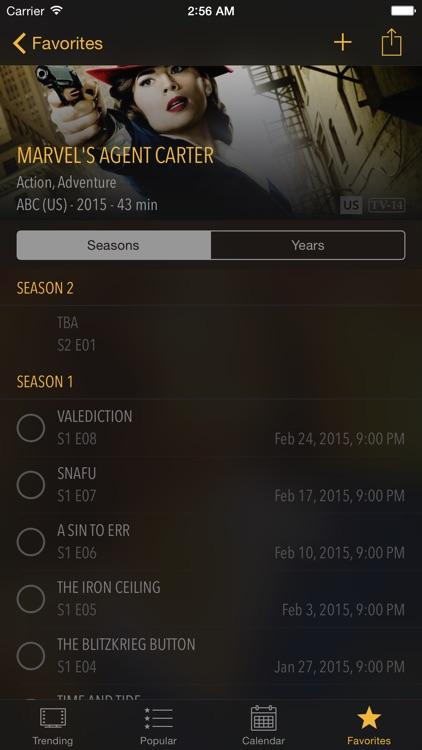 Seasons - TV Shows Tracker