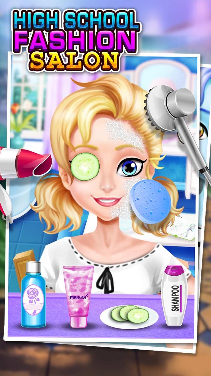 High School Fashion Salon - Girls Game & Prom Party Screenshot