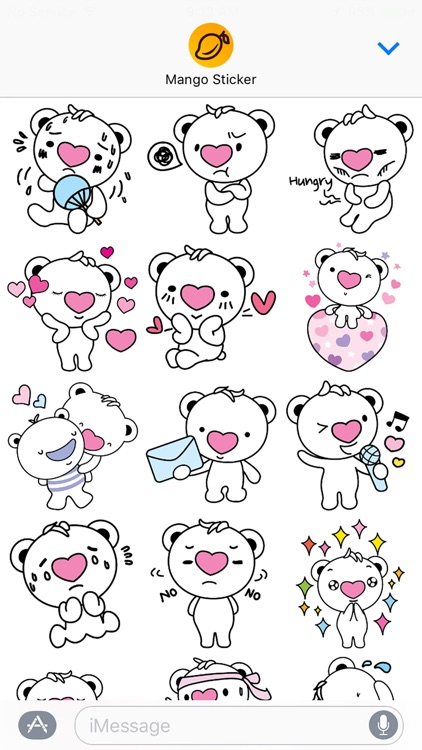 Heartbear, the Messenger of Love - Mango Sticker