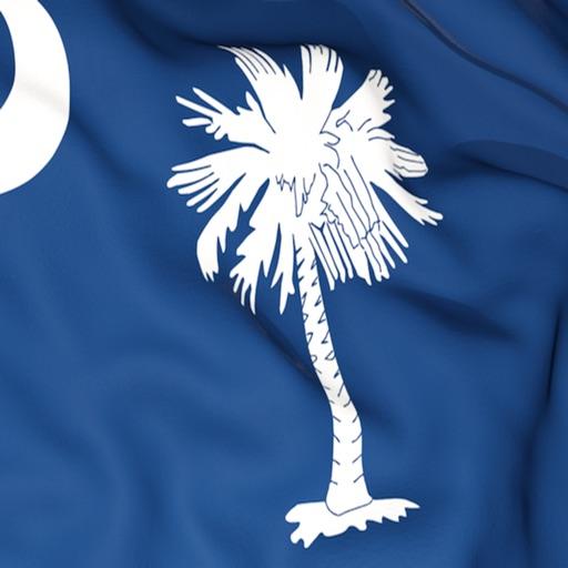 South Carolina Flag Stickers