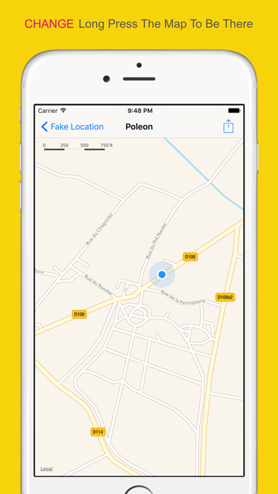 how to change store location in iphone