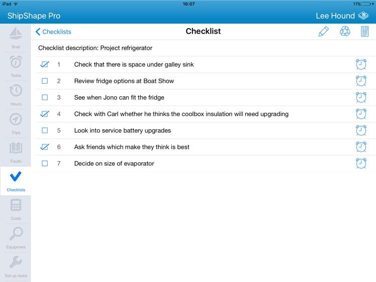 ShipShape Pro -  Boat Maintenance App for iPad screenshot-4