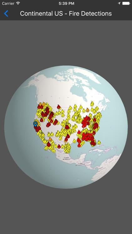 Fires - 3D Fire Map screenshot-0