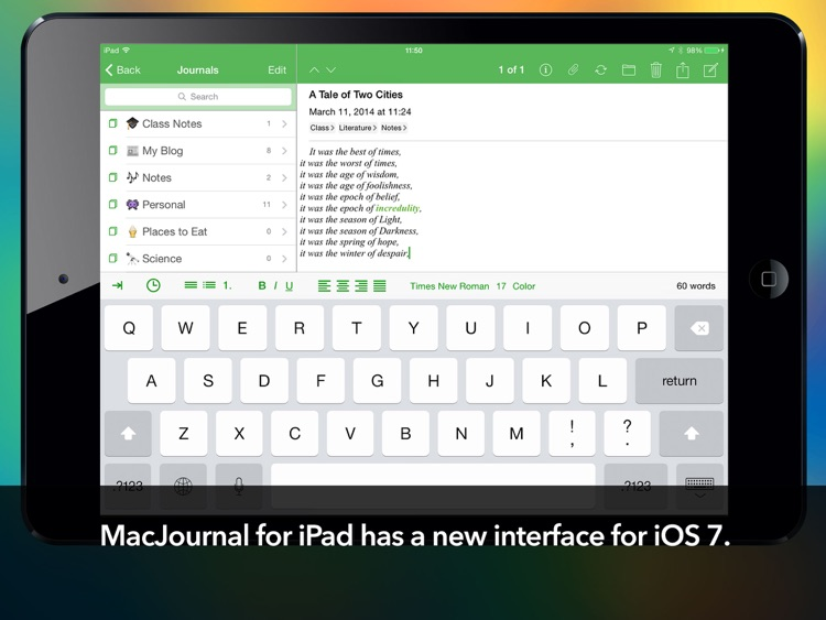 MacJournal for iPad