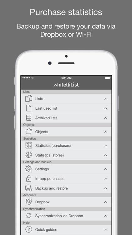 IntelliList - Shopping List screenshot-4