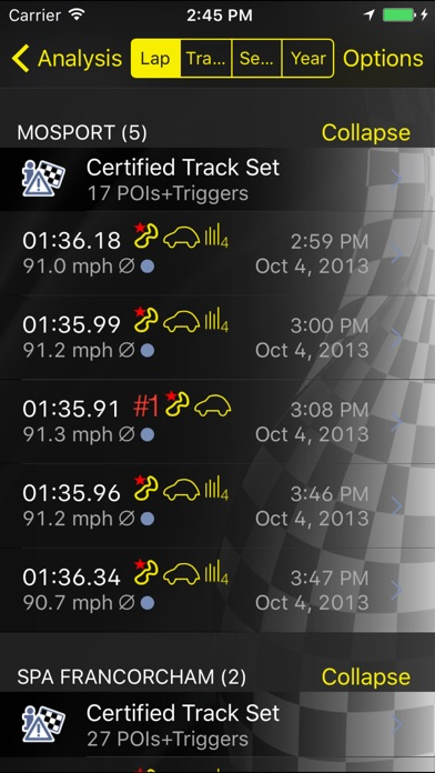 Screenshot for OMP Racing Suite in Chile App Store