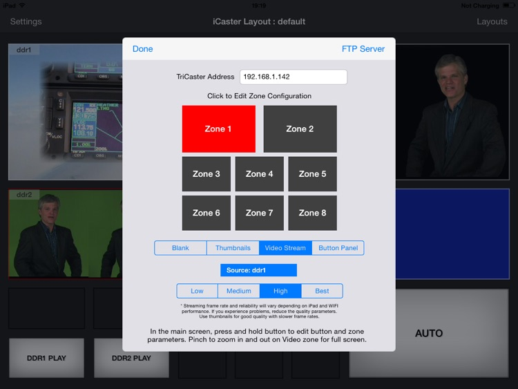iCaster - Remote Control for NewTek Tricaster Advanced Edition