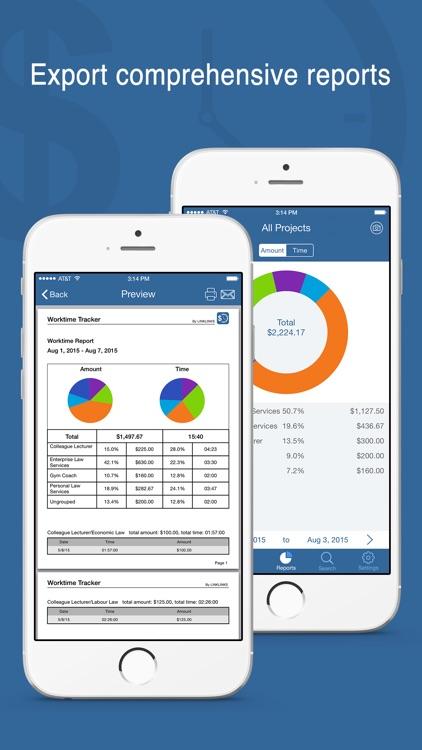 Worktime Tracker Pro - Timesheet & Billing Manager screenshot-4