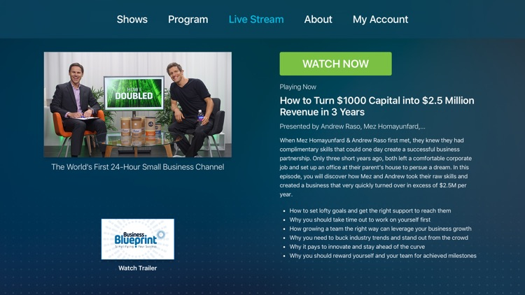 Business blueprint the worlds first 24 hour small business business blueprint the worlds first 24 hour small business channel for apple tv by business blueprint malvernweather Image collections