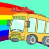 Wheels on the bus sing along song games for kids