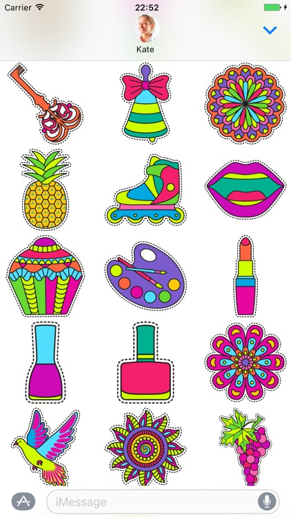 Fashionable cute - Stickers for iMessage screenshot-3