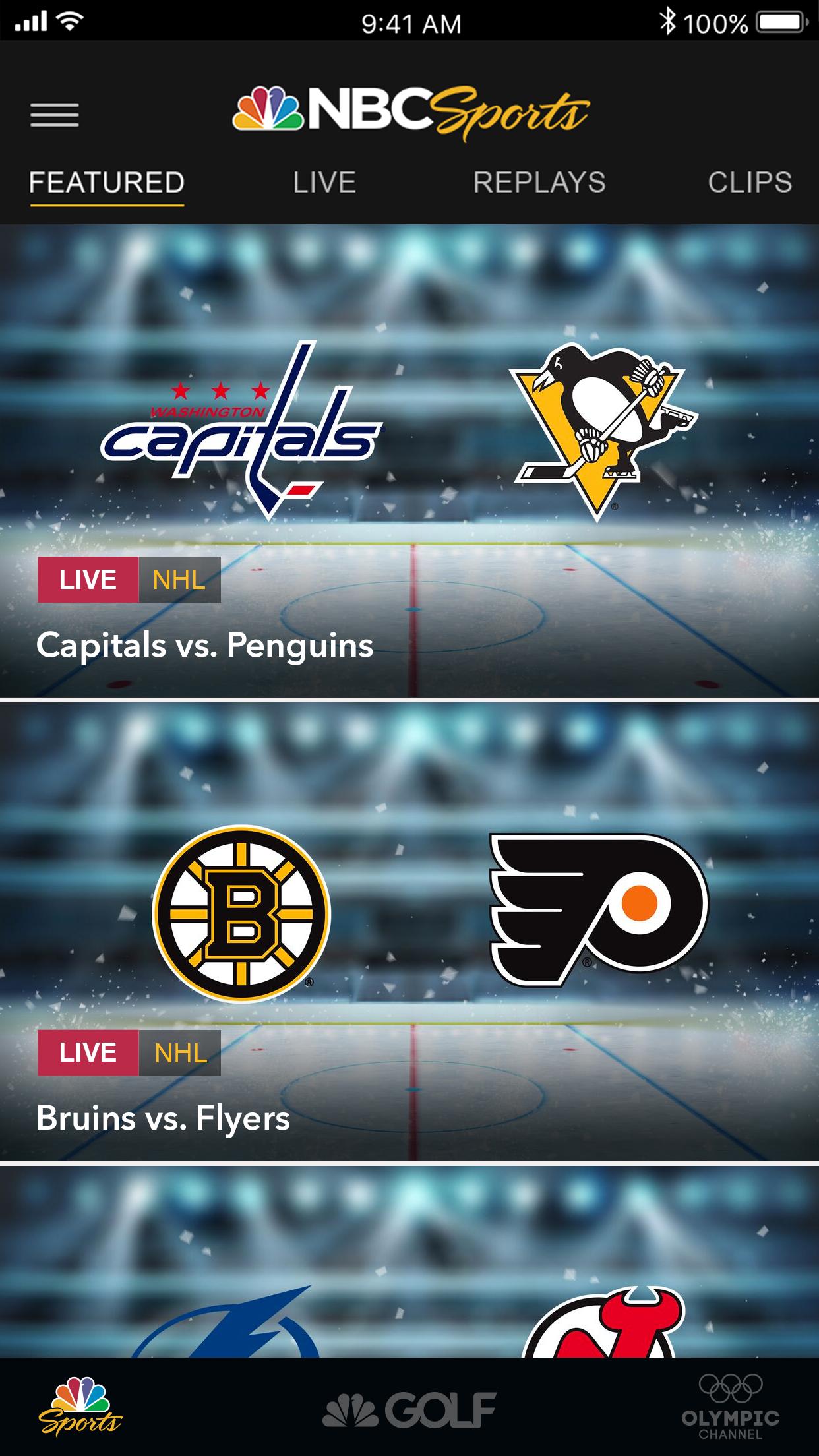 NBC Sports Screenshot