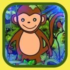 Salto do macaco-montanhistas da árvore icon