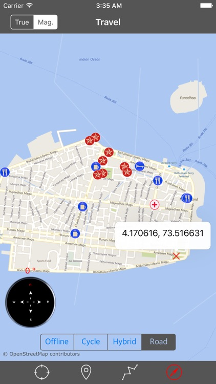 MALDIVES – GPS Travel Map Offline Navigator screenshot-4