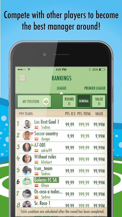 download BeManager - Manage your football team apps 2