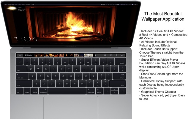 Fireplace 4K - Live Wallpaper on the Mac App Store