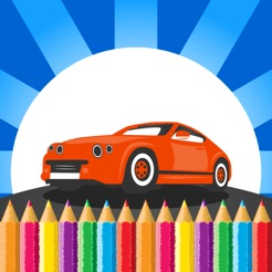 Kids Vehicle Coloring Book Drawing Painting Game 4