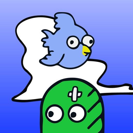 blue bird boo icon