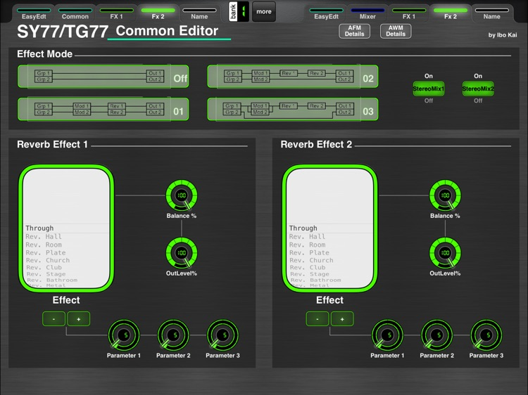MD77: Voice Editor for Yamaha SY77/TG77 by Ibo Kai screenshot-3