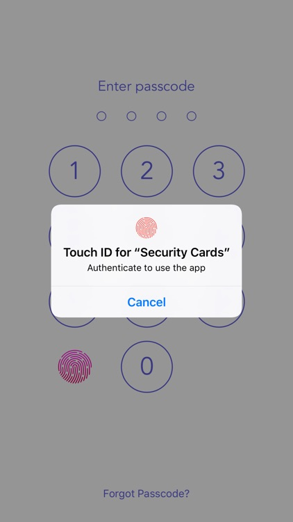 Security Cards Widget