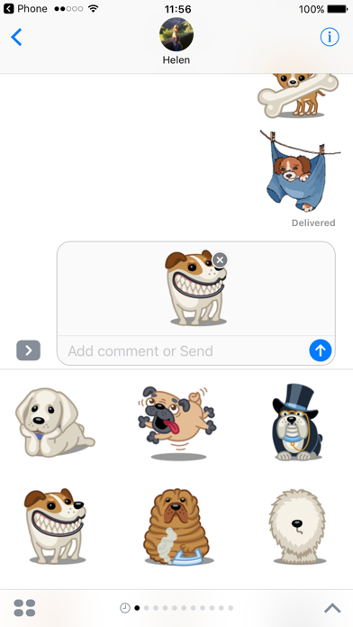Dog Emoji Animated Sticker Pack for iMessageScreenshot of 2