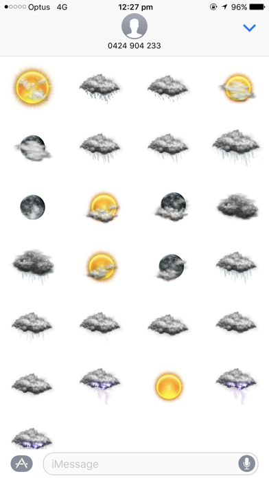 Weather Stickers for Messageのおすすめ画像2