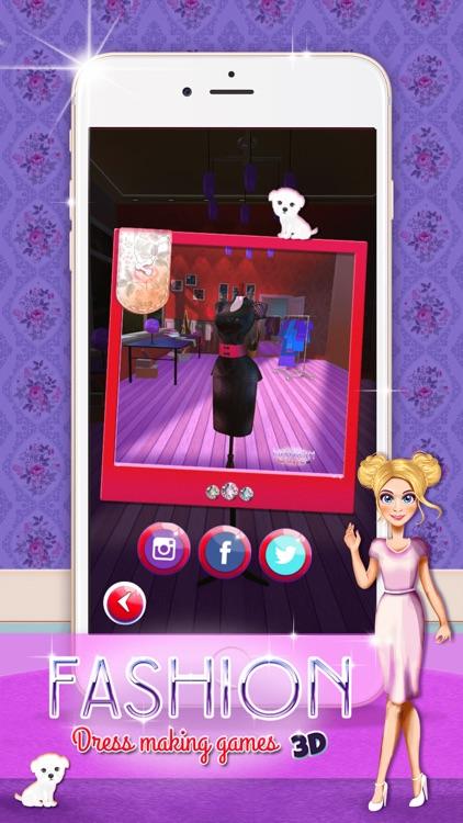 Fashion Dress  Designer 3D: Clothes Making Game.s screenshot-3