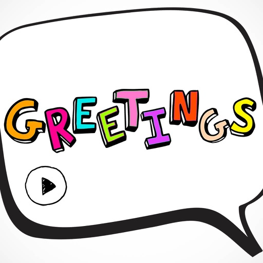Animated Greetings Wishes Card