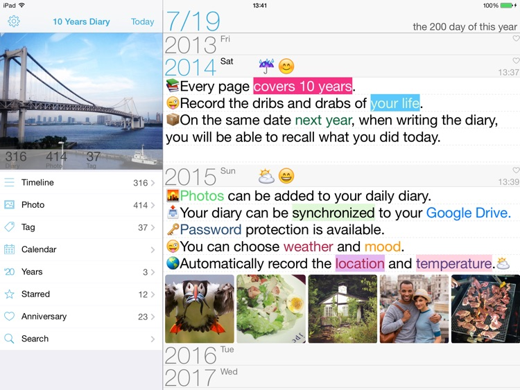 Tenyear Diary / Journal HD