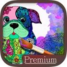 Mandalas dog Coloring for adults - Premium icon