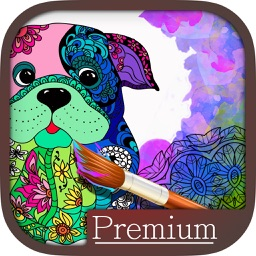 Mandalas dog Coloring for adults - Premium