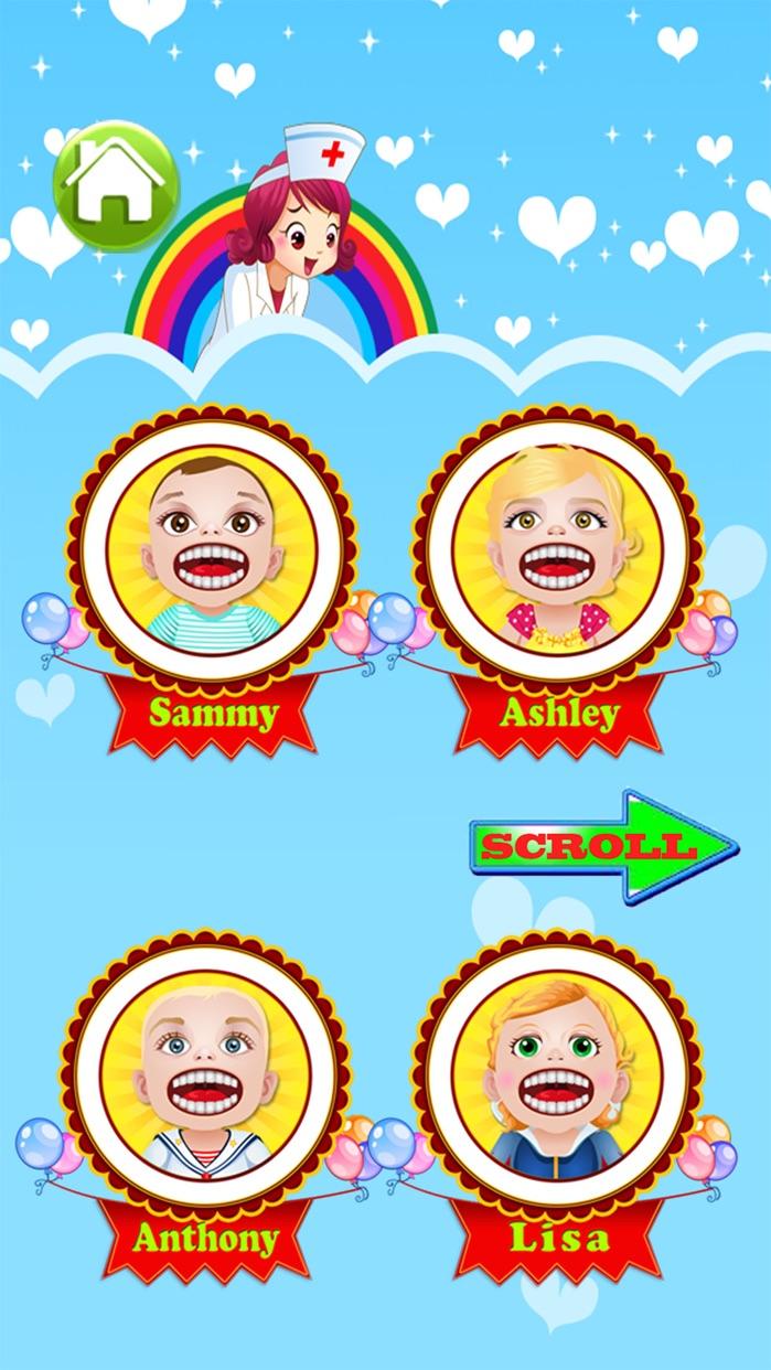 Baby Doctor Dentist Salon Games for Kids Free Screenshot