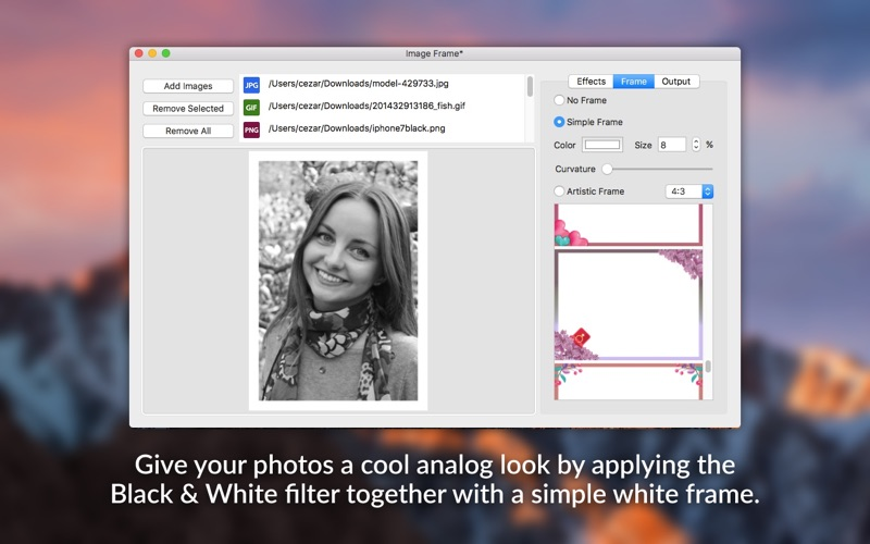 Image Frame - Beautiful Photo Frames and Effects скриншот программы 3