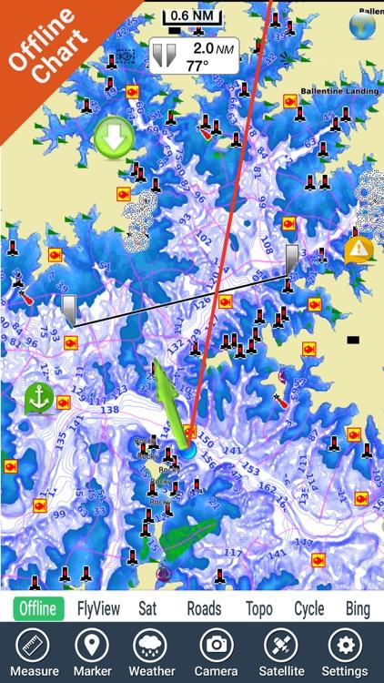 Lake Murray SC Nautical Charts