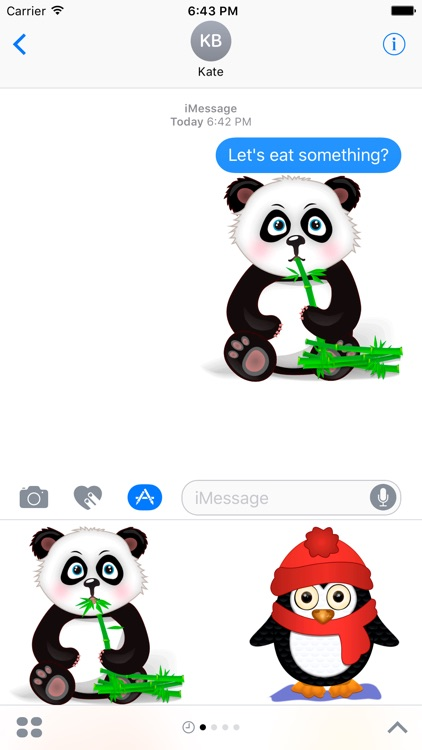Funny zoo - cute stickers with animated animals screenshot-3